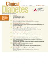 Clinical Diabetes: 32 (3)
